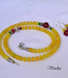 Buy Beaded Yellow and Red Necklace Set  Necklace online