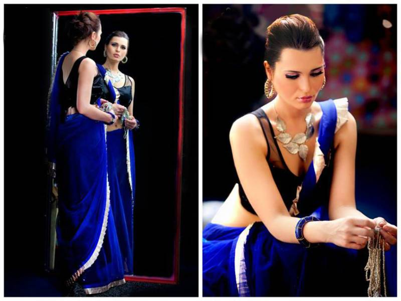 Buy Latest Royal Blue Partyware saree Online