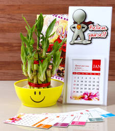 Buy New year goodluck plant with calendar 2017 new-year-gift online