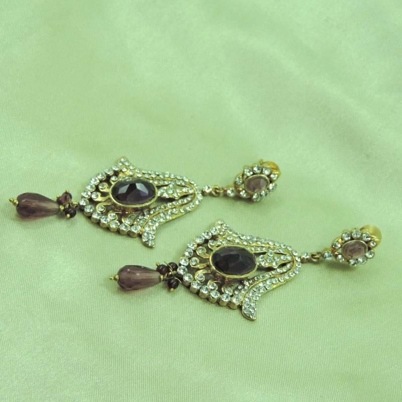 buy new design jaipur jewelry purple earrings