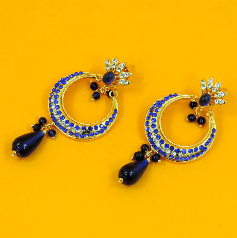 Buy Beautiful Gift BLU Chand Bali Earrings Jewelry For ...