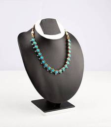 Buy Turquoise Oval Stone Studded Necklace necklace-set online