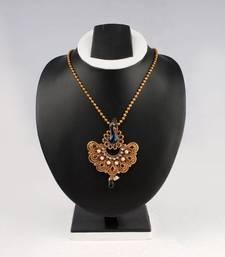 Buy Black Peacock Earring & Pendant Necklace necklace-set online