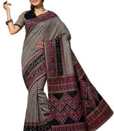 Buy Aria Grey cotton printed summer collection saree ks362 cotton-saree online