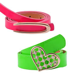 "Buy "" Green and Pink"" Belt Combo For Womens gifts-for-sister online"