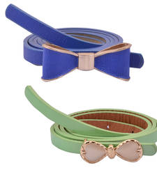 "Buy "" Green and Blue Color"" Belt Combo For Womens gifts-for-sister online"