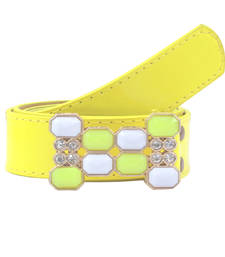 "Buy "" Yellow Color"" Belt Combo For Womens gifts-for-sister online"