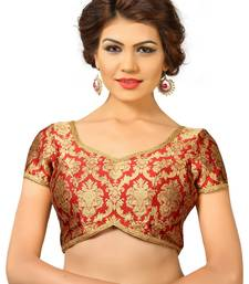 Buy Maroon embroidred Brocade readymade-blouse readymade-blouse online