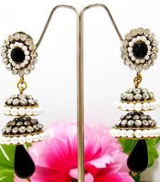 Buy Victorian Double Step Tokri Earring Midnight Black stud online