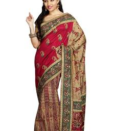 Buy Multicolor embroidered silk saree with blouse silk-saree online