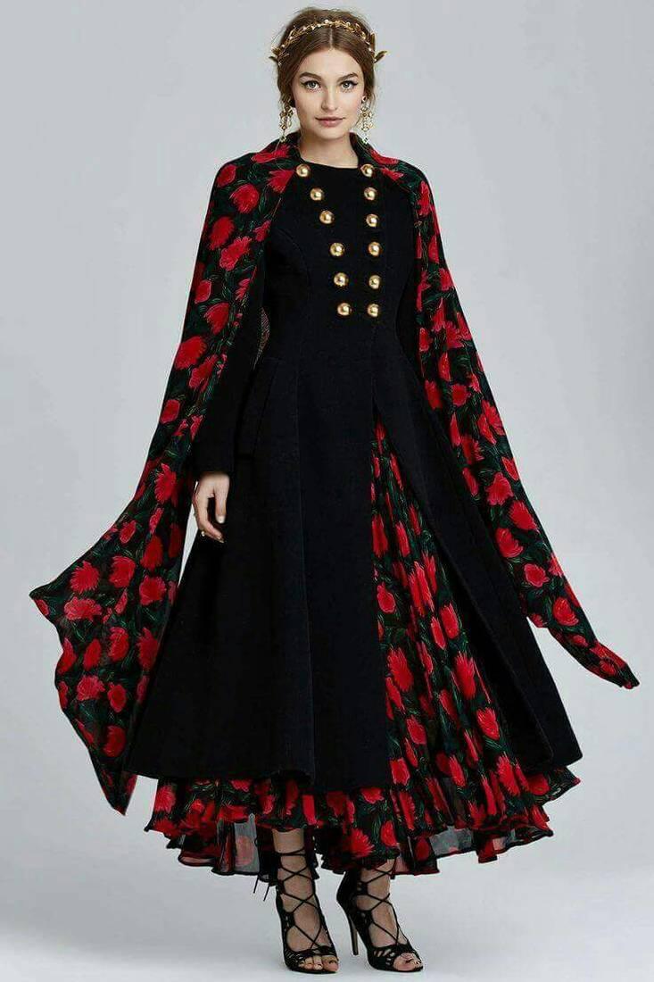 Buy Black printed art silk semi stitched salwar with ...