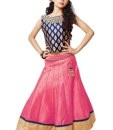 Buy Kids dresses Pink Banglori silk stitched lehenga choli gifts-for-kid online