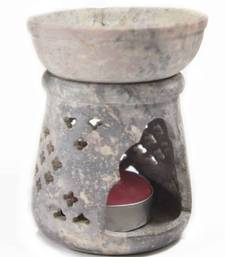 Buy Handcarved stone oil burner (Grey)  candle online