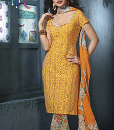 Buy Pure Cotton Dressmaterial with Cotton Duppata cotton-salwar-kameez online