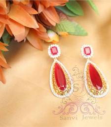 Buy Gorgeous Ruby Filigree Danglers  danglers-drop online