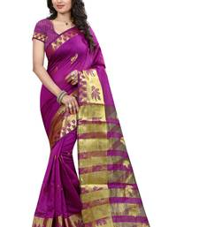 Buy Magenta hand woven cotton silk saree with blouse tussar-silk-saree online