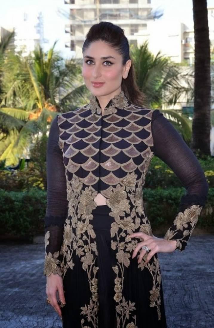 Black dress kareena kapoor - Kareena Kapoor In Black And Gold Dress
