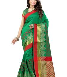 Buy Green printed cotton silk saree with blouse kota-silk-saree online