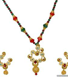 Buy Diwali Discount offers - KSHITIJ  SEMI TRADITIONAL GOLD PLATED PENDANT KJM 066 Pendant online