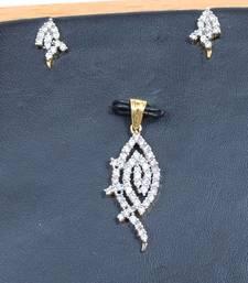 Buy Gracious American Diamond Pendant Set Pendant online