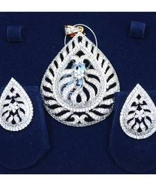 Buy Idosyncratic American Diamond Pendant Set Pendant online