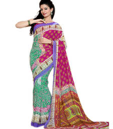 Buy SURAT TEX CASUAL WEAR SEA GREEN COLORED FAUX GEORGETTE SAREE georgette-saree online