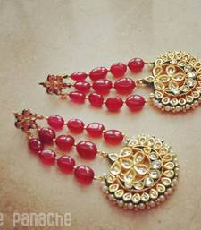 Buy Red Jhoomar Earrings danglers-drop online