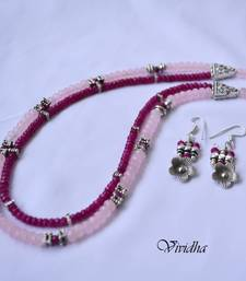 Buy  Two Layer Pink beads Necklace Set Jewelry necklace-set online