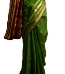 Buy Banarasi Art Silk Dark Green Saree With Zari Work and Blouse banarasi-silk-saree online