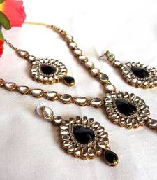 Buy Black Kundan Necklace Set necklace-set online