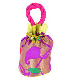 Buy Goldencollections Designer Pink Hand Pouch potli-bag online