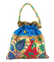 Buy Goldencollections Ethnic Hand Pouch potli-bag online