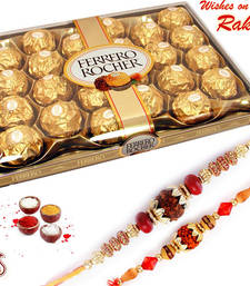 Buy Rakhi Hamper for sister - 24 pc Ferrero Rocher Chocolate rakhi-gifts-for-sister online