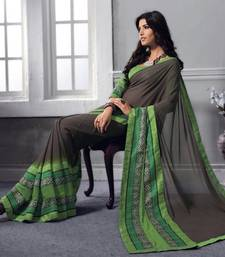 Buy Vishal Coffee Georgette Saree Belmonte32723 printed-saree online