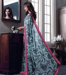 Buy Vishal Blue Georgette Saree Belmonte32718 printed-saree online