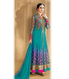 Buy Blue Anarkali Suit anarkali-salwar-kameez online