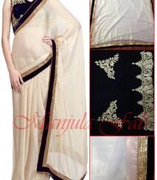 Buy Stunning Designer Off White Saree madhuri-dixit-saree online