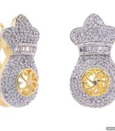 Buy AD STONE STUDDED UNIQUE EARRINGS/HANGINGS(AD) - PCFE3319 hoop online