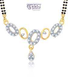 Sukkhi Estonish Gold and Rhodium Plated Cubic Zirconia Stone Studded Mangalsutra Set(14039MSCZK1000) shop online