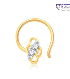Buy Sukkhi Indian Gold and Rhodium Plated CZ Nose Pin(36037NPCZK200) nose-ring online