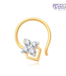 Buy Sukkhi Shimmering Gold and Rhodium Plated CZ Nose Pin(36050NPCZK200) nose-ring online