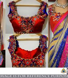 Buy Multicolor embroidered georgette saree with blouse bridal-saree online