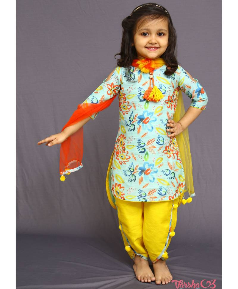 Buy New Designer Sky Blue Cute Partywear Salwar Suit For