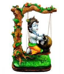 Buy Bal Krishna under Jhula Decorative Idol sculpture online
