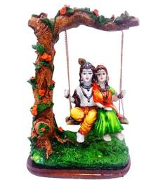 Buy Radha Krishna under Jhula Show Piece sculpture online