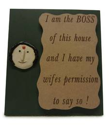 Buy I am the Boss of this House Wall Hanging wall-decal online