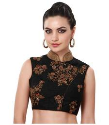 Buy Black banglory silk embroidery blouse fabric blouse-fabric online