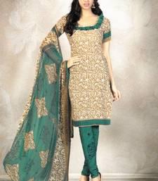 Buy Elegant Crepe Designer Printed Unstitched Dress Material Suit D.No 8168 dress-material online