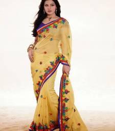 Buy Yellow Color Viscose Saree DCS33023 viscose-saree online