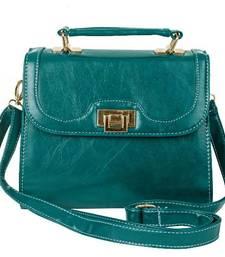 Buy Just Women Ocean Blue PU Leather Satchel sling-bag online